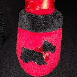 Black Scottie Red Slippers